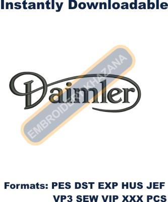 DAIMLER Jaguar logo embroidery design